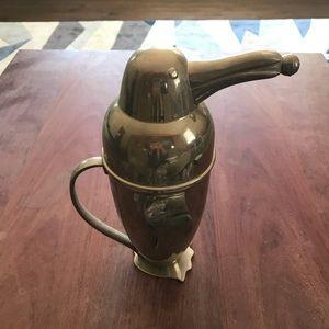 Vintage 50s silver plate penguin cocktail shaker
